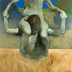 Figure Being Carried in a Landscape