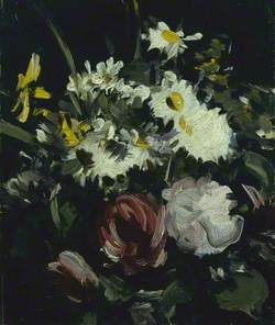 Flowers against a Dark Background