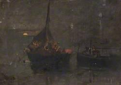Neapolitan Fishing Boats at Night