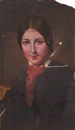 Portrait of a Woman with a Pink Bow