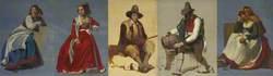 Five Studies of Italian Figures