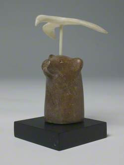 Bird on Head of Polar Bear*