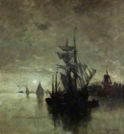 Moonlight in Dordrecht