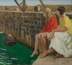 Two Girls by a Jetty