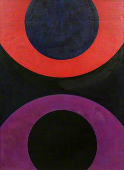 Curved Red and Violet