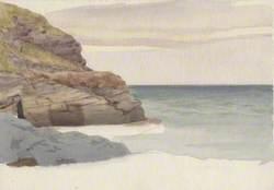 Cliff and Beach Scene