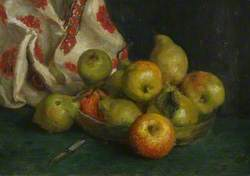 Dish of Fruit with Cloth