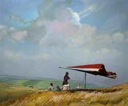 Hang Gliding, Higger Tor, Derbyshire