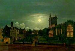 St Peter's Church, Derby, by Moonlight
