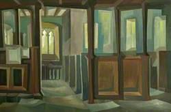 Interior of Dale Church, Derbyshire