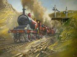 M. R. Spinner and Compound Leaving Chee Dale Tunnel, Derbyshire