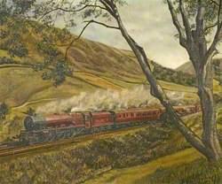 Princess Royal Class Steam Locomotive 46203 'Princess Margaret Rose' in Lune Gorge, Cumbria