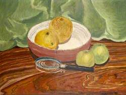 Still Life with a Magnifying Glass