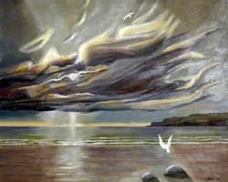 Seascape with a White Bird