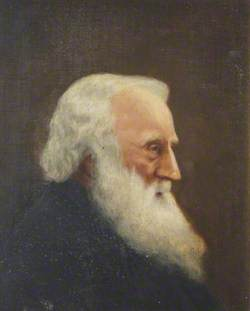 Portrait of a Man with a Beard in Profile