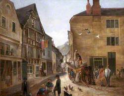 Higher Street Looking South, 'The Old Shambles', Dartmouth, Devon