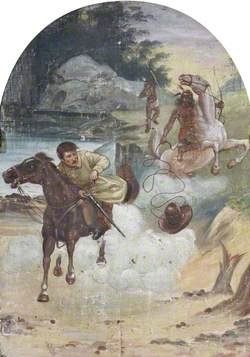 Hatwell's 'Gallopers': Cowboy Chased by Indians