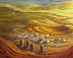 Golden Harvest Landscape, near Gordes, Provence, France