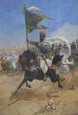 Saladin's Cavalry Charging the Crusaders