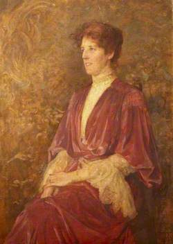 Mrs Sophia Hawkes Holman, née Andrew (1863–1928), Lady in a Red Dress