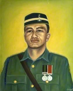 Captain 'Barney' Mansur Bin Mohammed Desa of 18 Signal Regiment