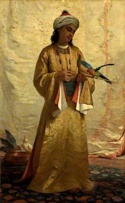 A Moorish Girl with a Parakeet