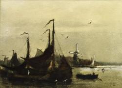 Dutch Scene (Scene in Holland, Dordrecht)