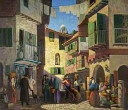 A Street Scene in Spain