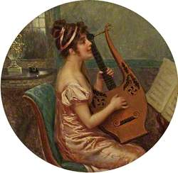 Woman Playing a Lyre