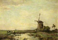 Windmill and a Pond