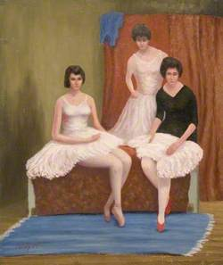 Three Dancers Resting, Members of the Dorchester Ballet Club