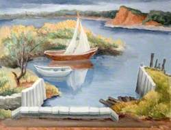 Coastal Scene with Sailing Boats
