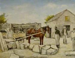 Ambrose Bower's Quarry Mine, Langton Matravers, Dorset, 1890