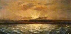 Sunset, West Bay to Portland Isle, Dorset