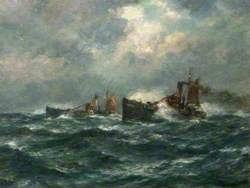 Trawlers Running Home in a Gale