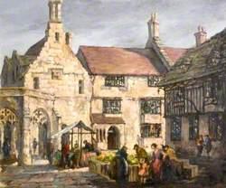 Market Day on the Parade, Sherborne, Dorset