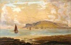 Portland Harbour with the Island of Portland, Dorset