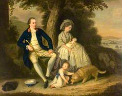 Charles Watson, Esq. (1740–1804), and His Wife, Lady Mary (d.1793), with Their Two Children, James (1781–1823) and Anne (1782–1800), in a Landscape