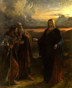 Christ and the Two Disciples on the Way to Emmaus