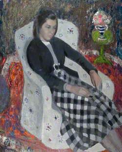 Eileen in a White Chair