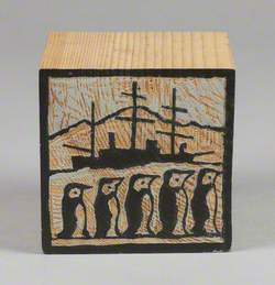 121 Linked Cubes: Cube Carved with Scenes from Dundee