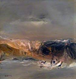 Fishing Boat off Auchmithie, Angus