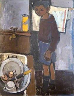 Boy at a Kitchen Sink