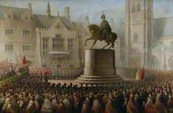 Unveiling the Statue of the 3rd Marquess of Londonderry in Durham Market Place, 2 December 1861