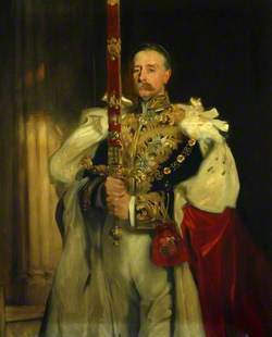 Charles Vane-Tempest-Stewart (1852–1915), KG, 6th Marquess of Londonderry, Carrying the Sword of State at the Coronation of King Edward VII, 9 August 1902
