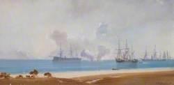 Ships Standing off a Beach