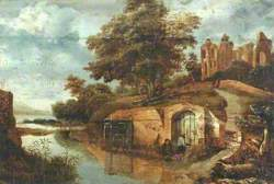Landscape with Ruins and a River