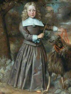 Portrait of a Boy with a Goat