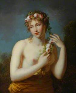 Half-Length Figure of a Bacchante