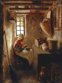 Interior with an Old Woman Eating Soup